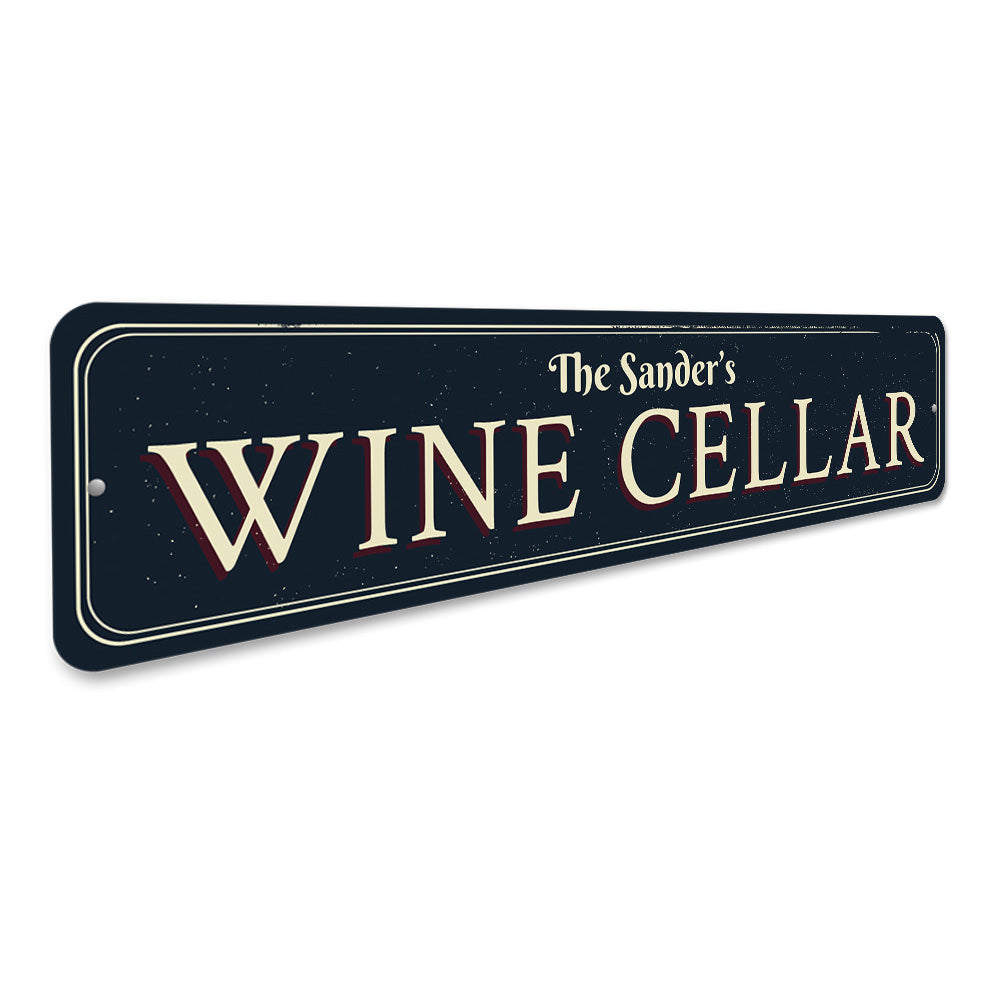 Family Wine Cellar Sign Aluminum Sign
