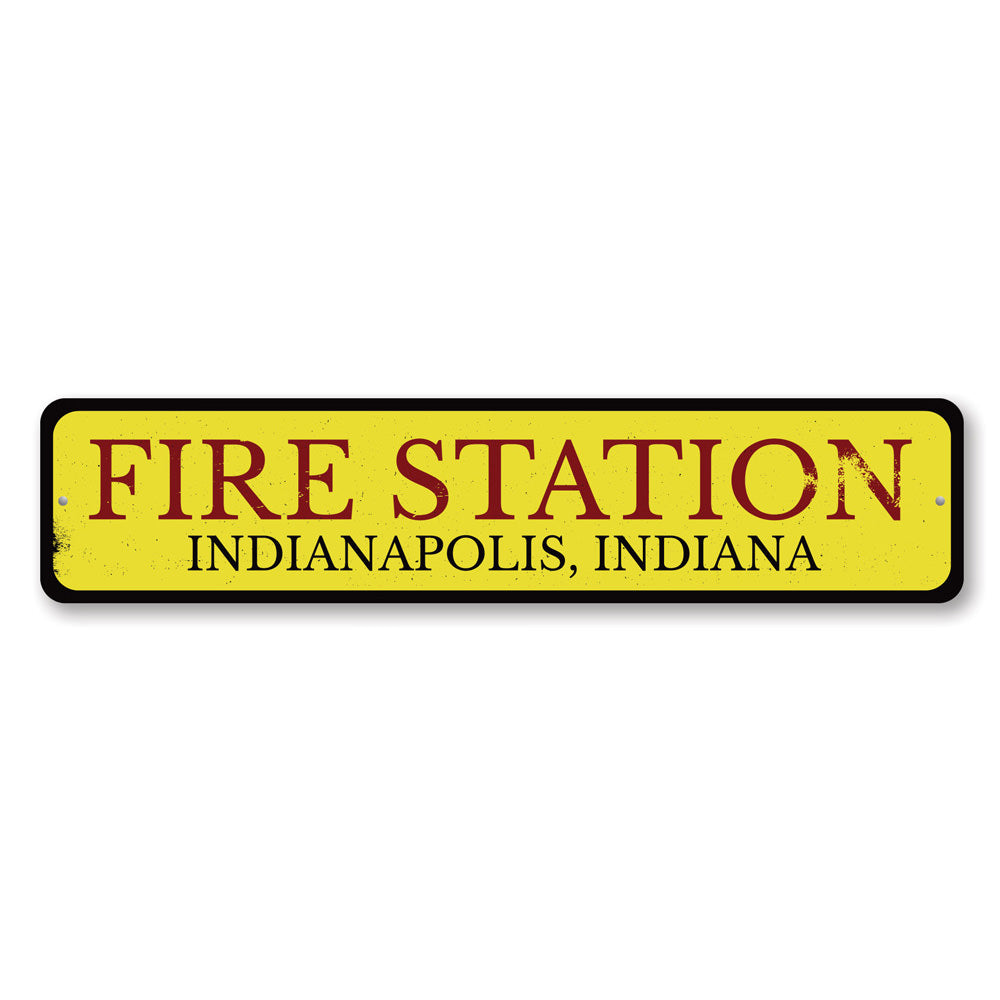 Fire Station Sign Aluminum Sign