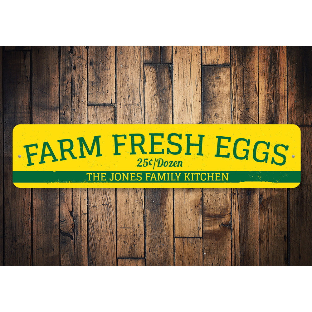 Farm Fresh Eggs Sign Aluminum Sign