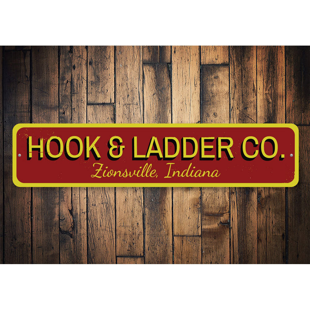 Hook & Ladder Sign Aluminum Sign