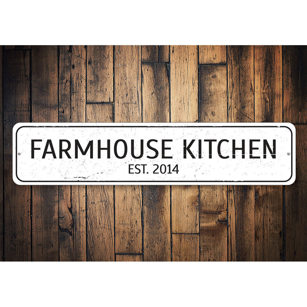 Farmhouse Kitchen Sign Aluminum Sign