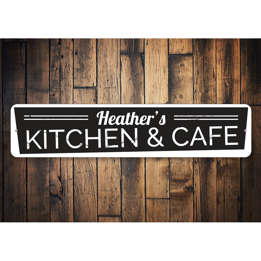Kitchen and Cafe Sign Aluminum Sign