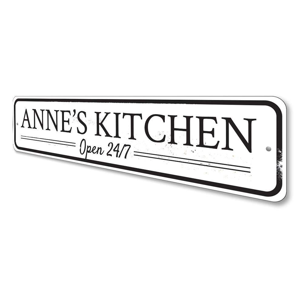 Kitchen Open Sign Aluminum Sign