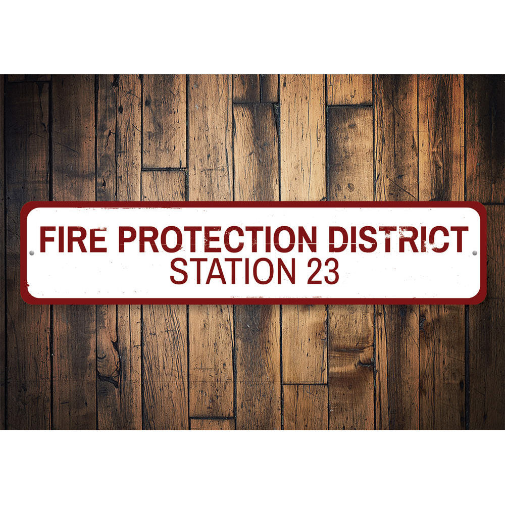 Fire Protection District Sign Aluminum Sign