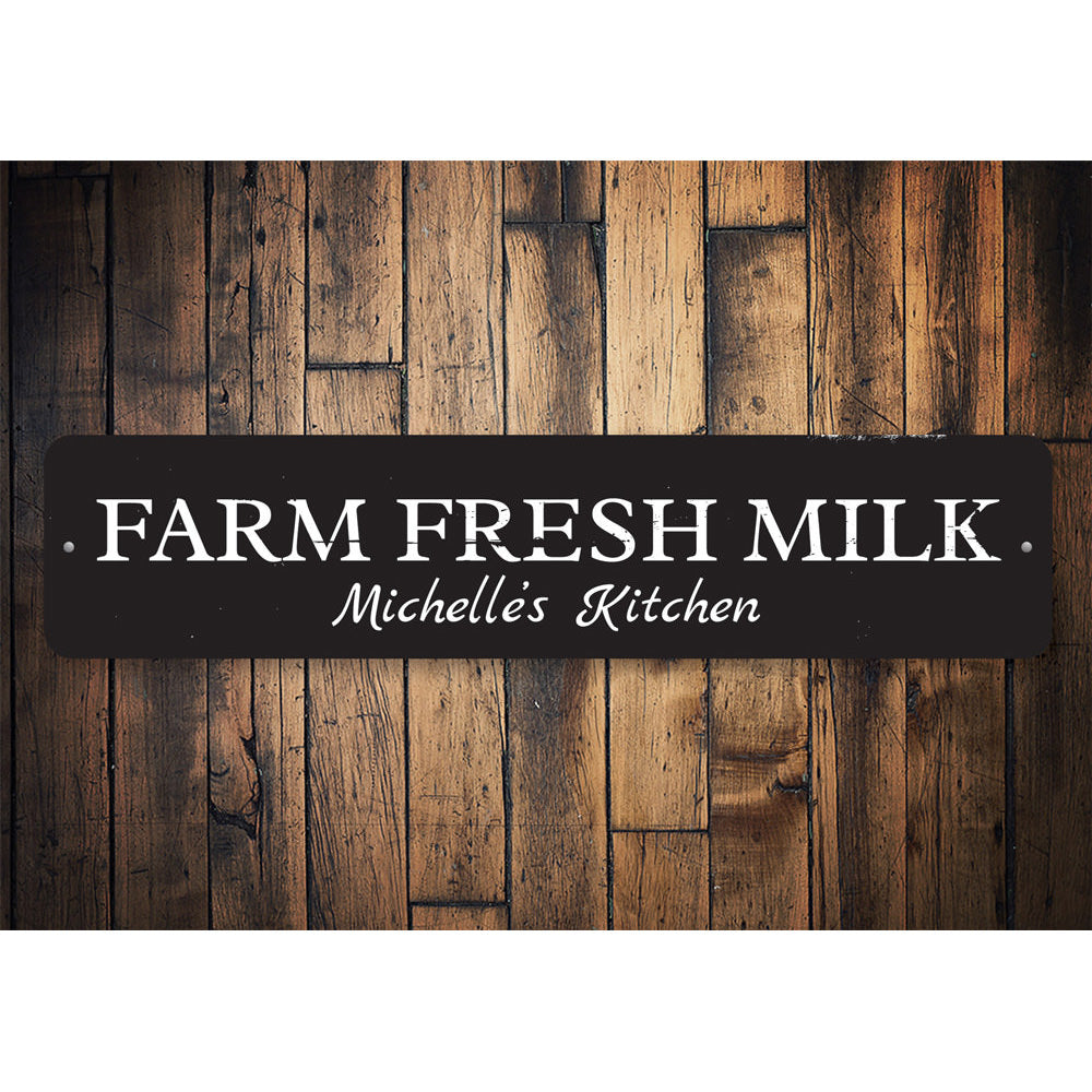 Farm Fresh Milk Sign Aluminum Sign