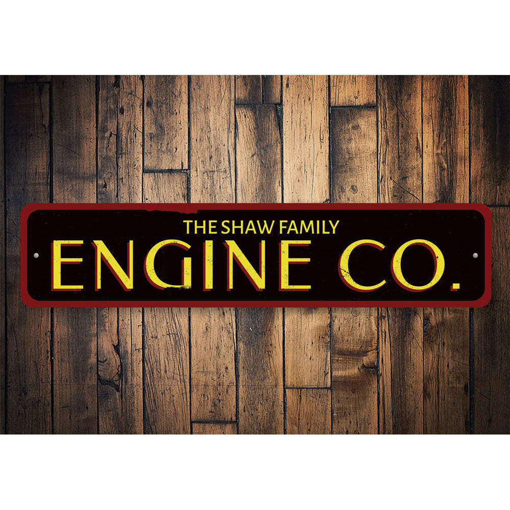 Engine Company Sign Aluminum Sign