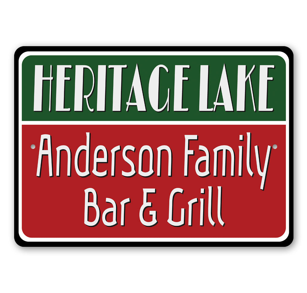 Lakeside Bar and Grill Sign Aluminum Sign
