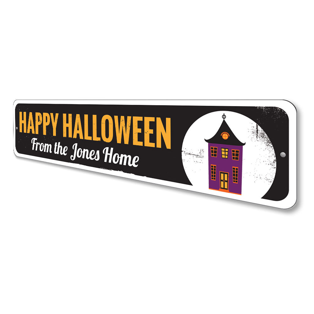 Spooky Haunted House Sign Aluminum Sign