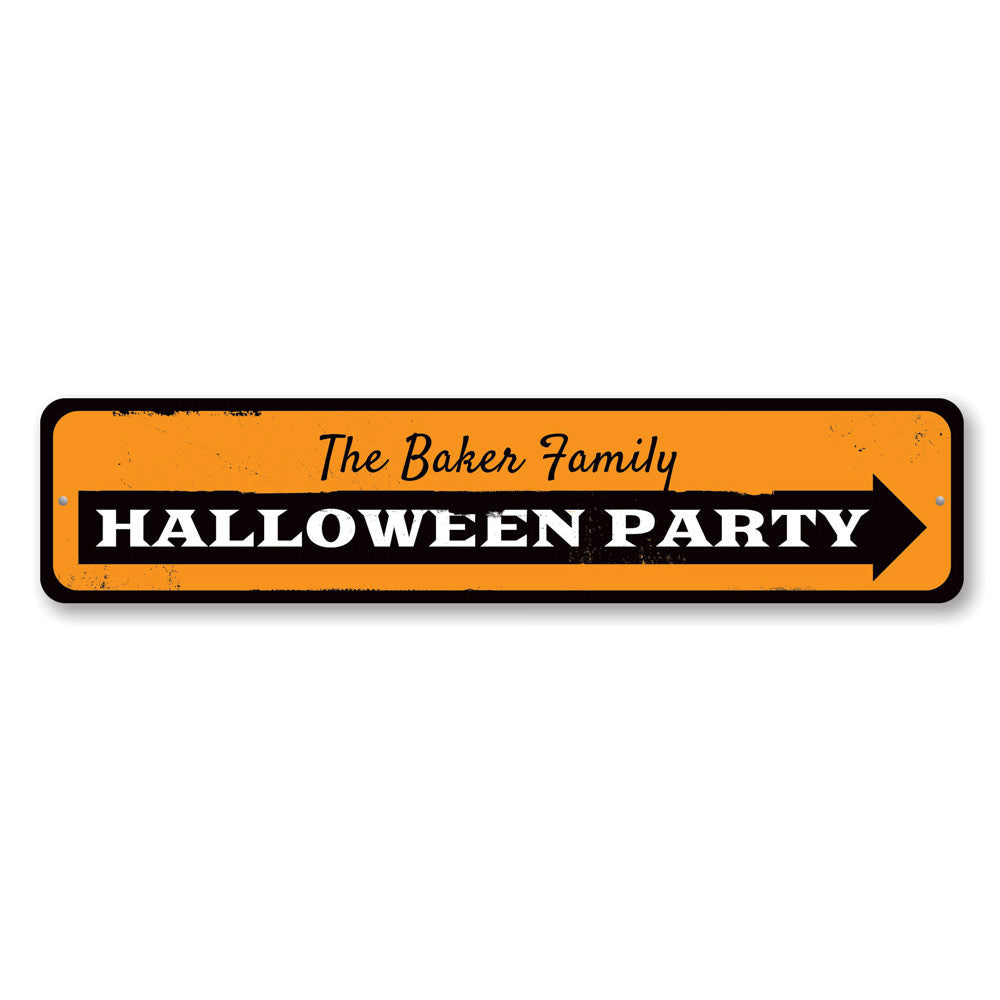 Halloween Party Sign Aluminum Sign