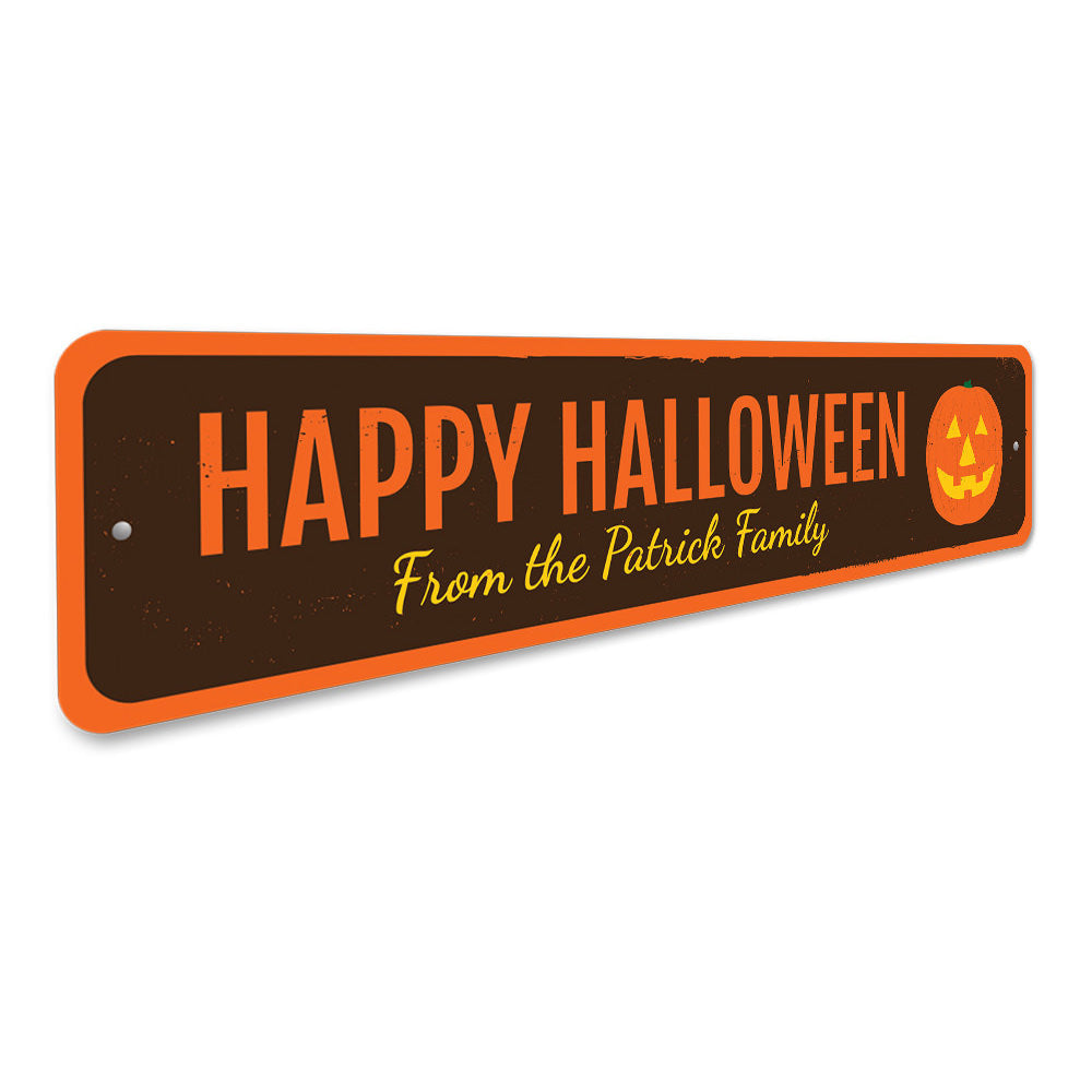 Jack-O-Lantern Halloween Sign Aluminum Sign