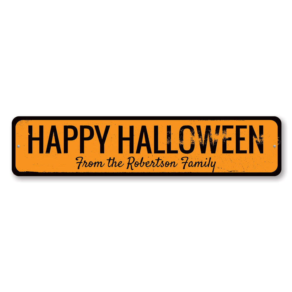 Happy Halloween Family Name Sign Aluminum Sign