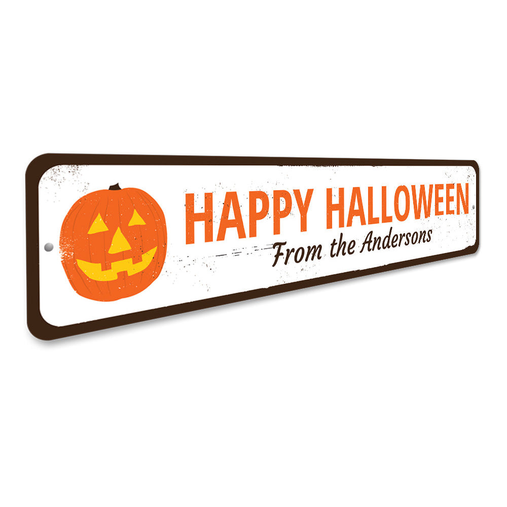 Jack-O-Lantern Sign Aluminum Sign
