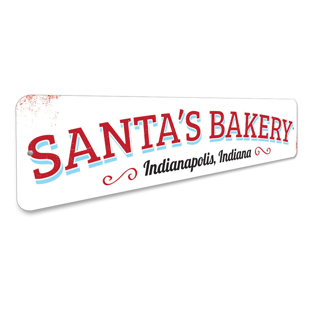Santa's Bakery Sign Aluminum Sign