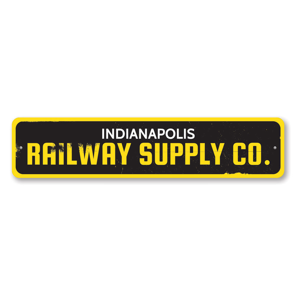 Railway Supply Company Sign Aluminum Sign