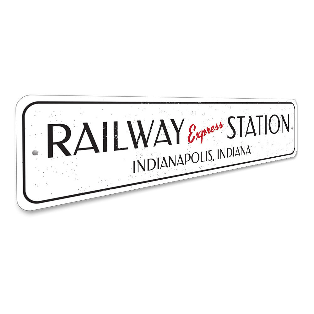 Railway Express Station Sign Aluminum Sign