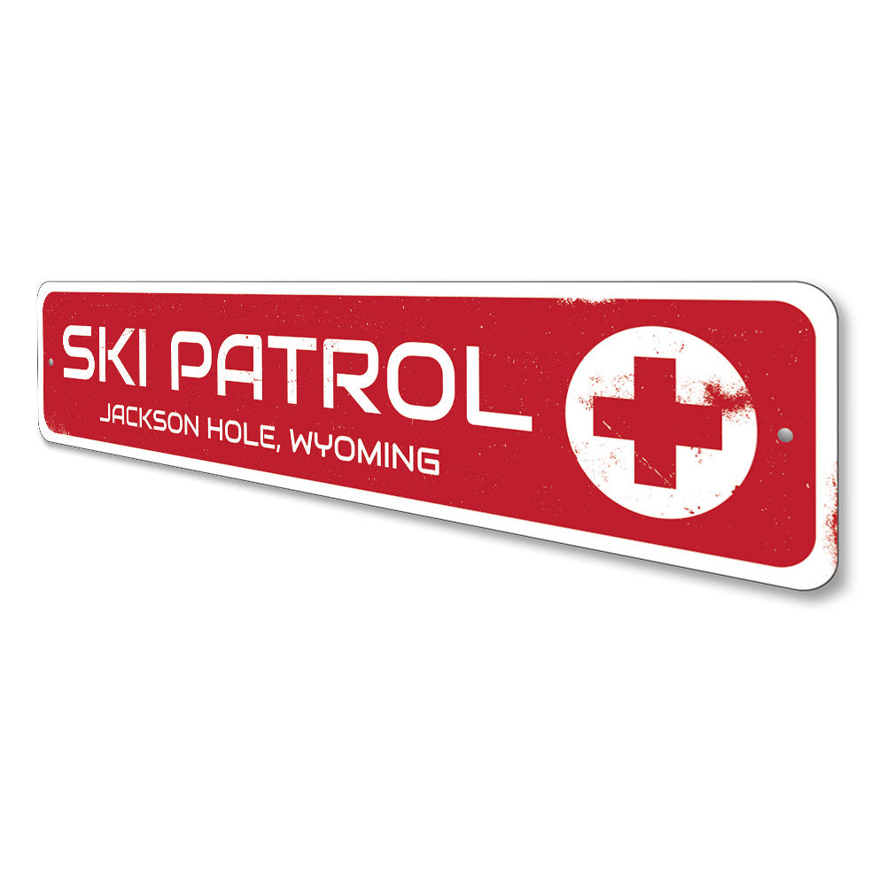 Ski Patrol Sign Aluminum Sign