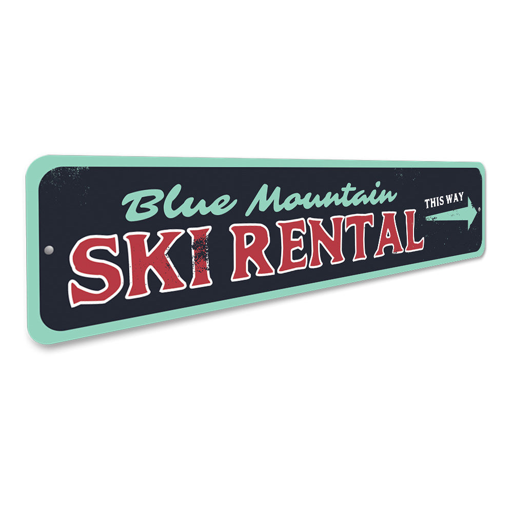 Ski Rental Sign Aluminum Sign