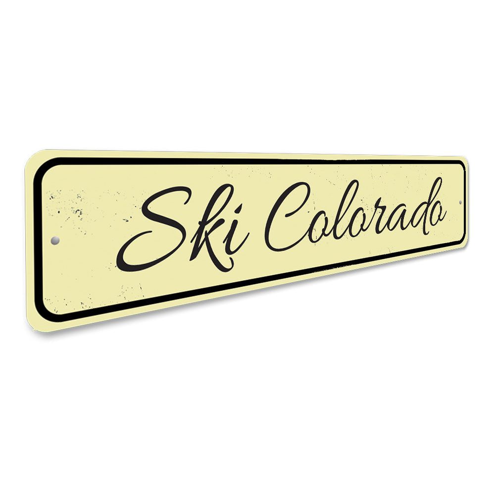 Ski Location Sign Aluminum Sign