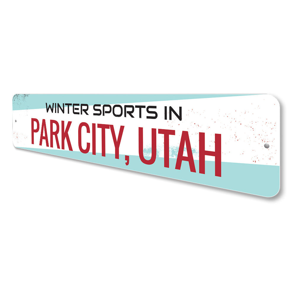 Winter Sports Sign Aluminum Sign
