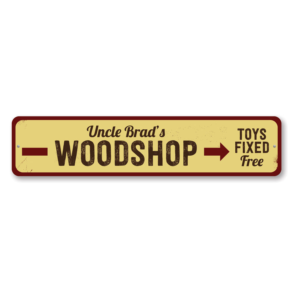 Woodshop Sign Aluminum Sign