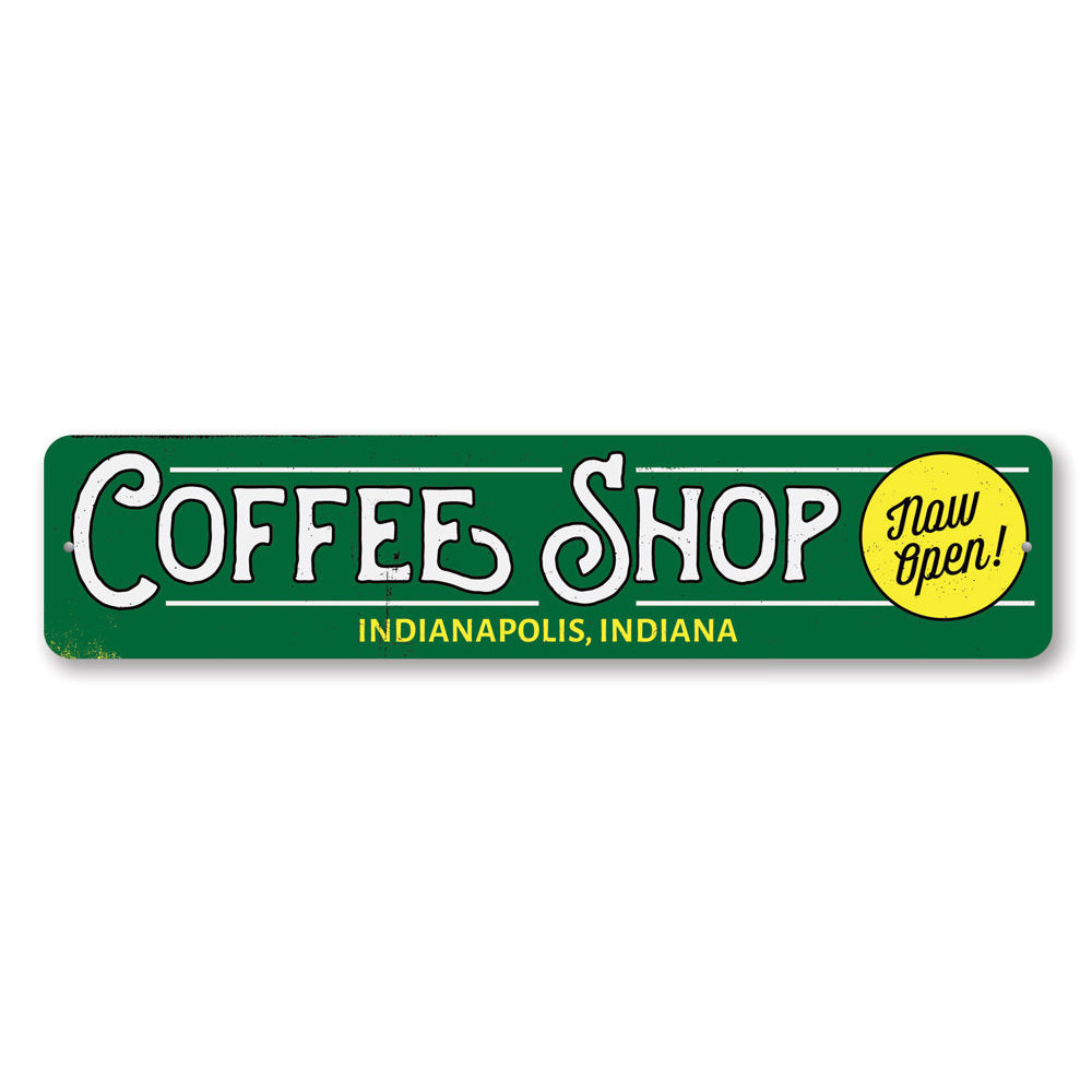 Coffee Shop Location Sign Aluminum Sign