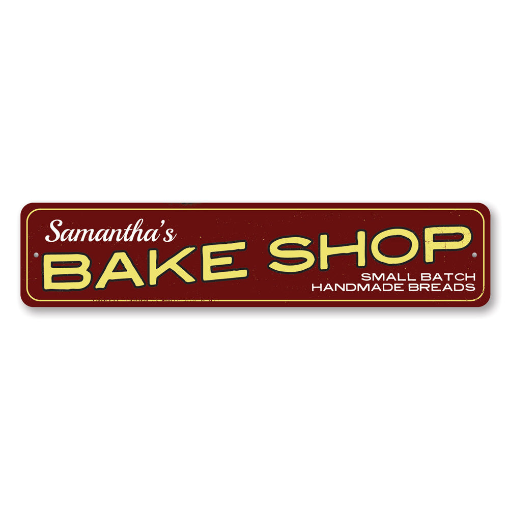 Bake Shop Name Sign Aluminum Sign
