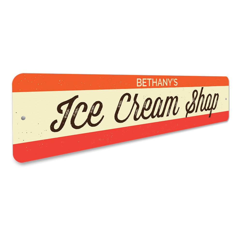 Ice Cream Shop Sign Aluminum Sign