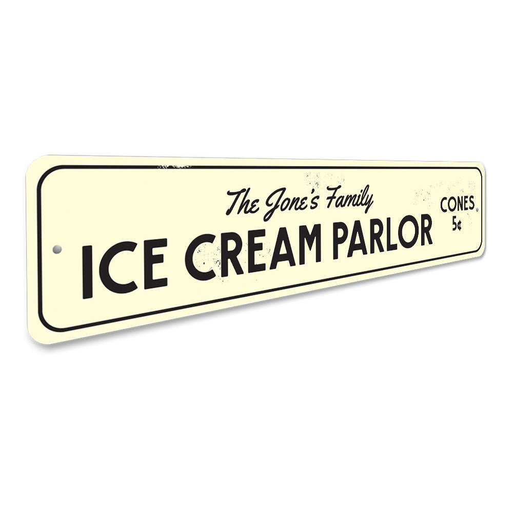 Ice Cream Parlor Sign Aluminum Sign