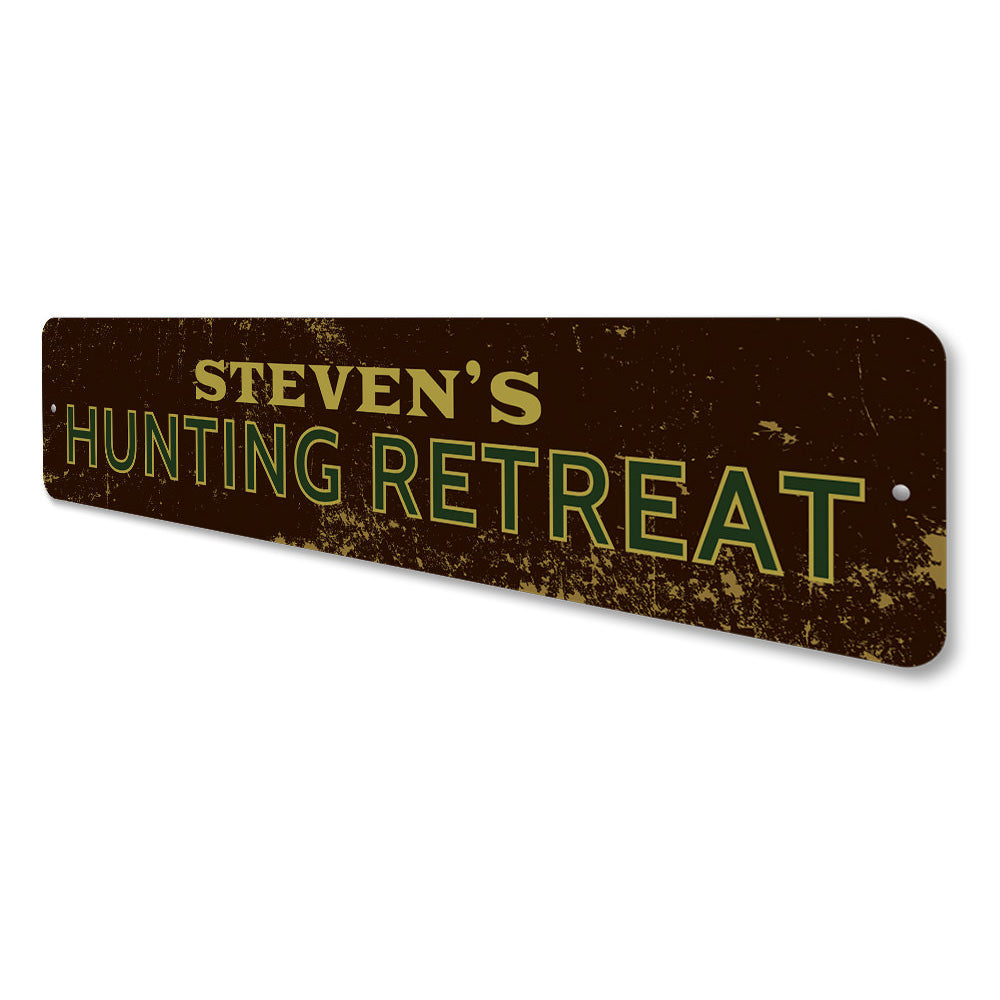 Hunting Retreat Sign Aluminum Sign