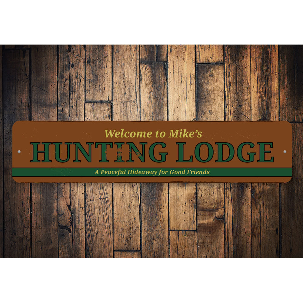 Hunting Lodge Sign Aluminum Sign