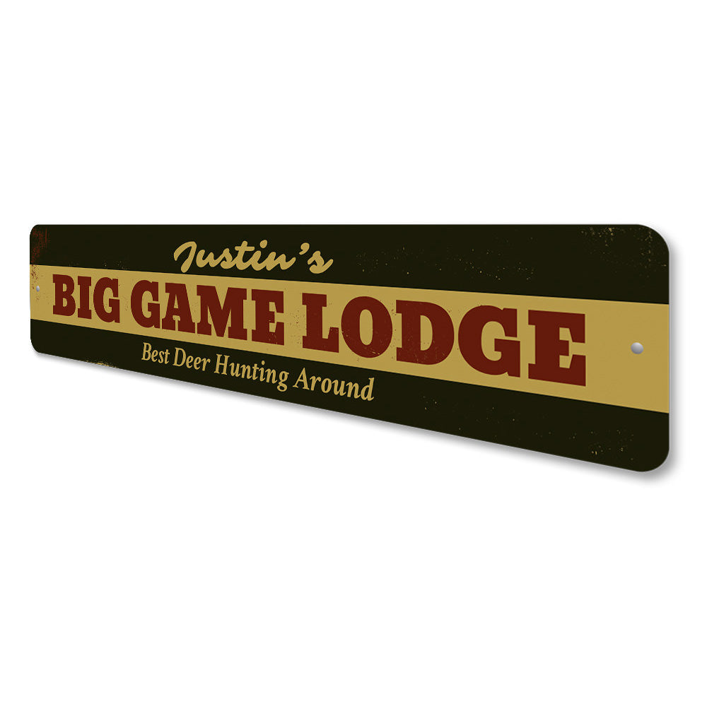Big Game Lodge Sign Aluminum Sign