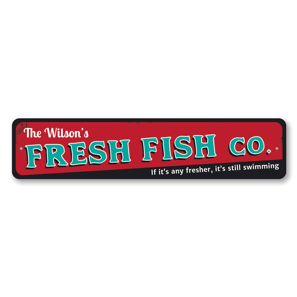 Fresh Fish Company Sign Aluminum Sign