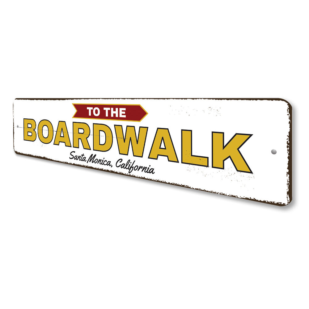 To the Boardwalk Sign Aluminum Sign