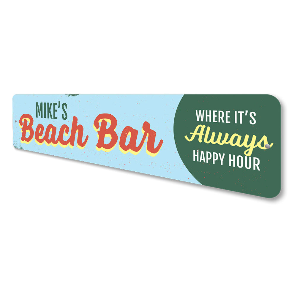 Beach Bar Name Sign Aluminum Sign