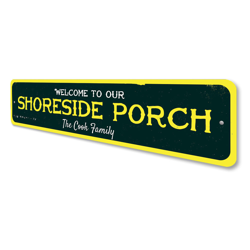 Shoreside Porch Sign Aluminum Sign
