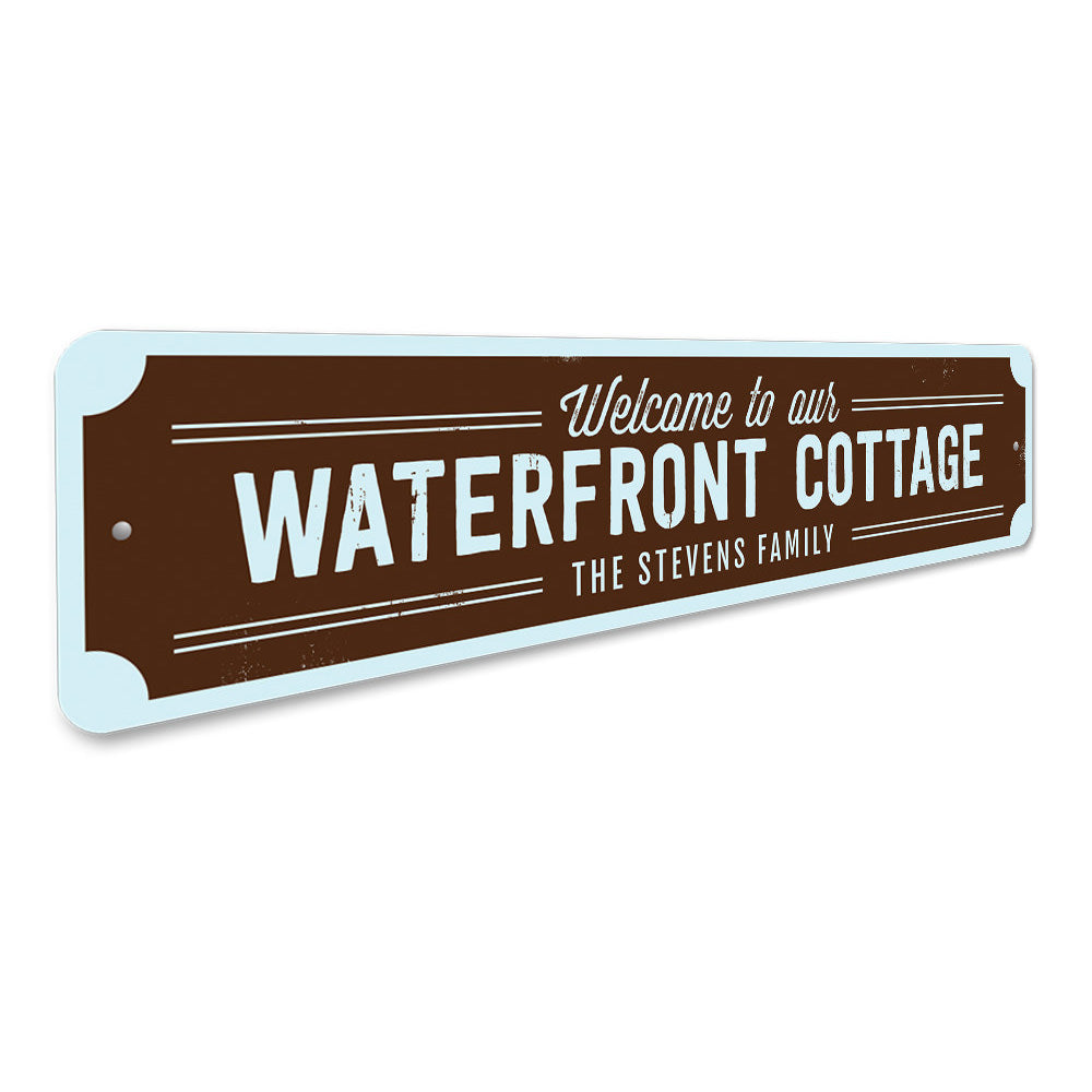 Waterfront Cottage Sign Aluminum Sign