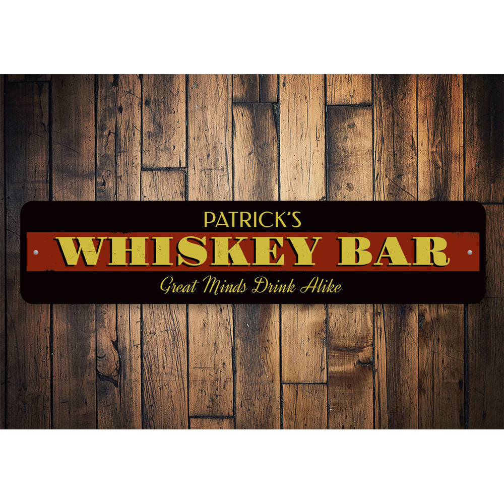 Whiskey Sign Aluminum Sign
