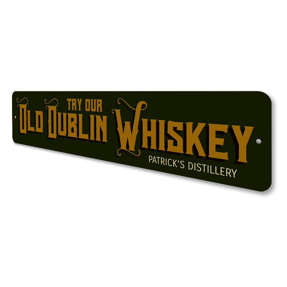 Old Dublin Whiskey Sign Aluminum Sign