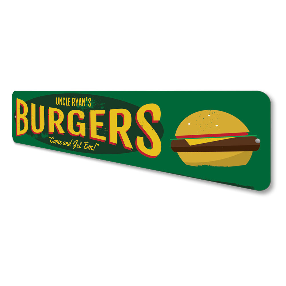Burgers Sign Aluminum Sign