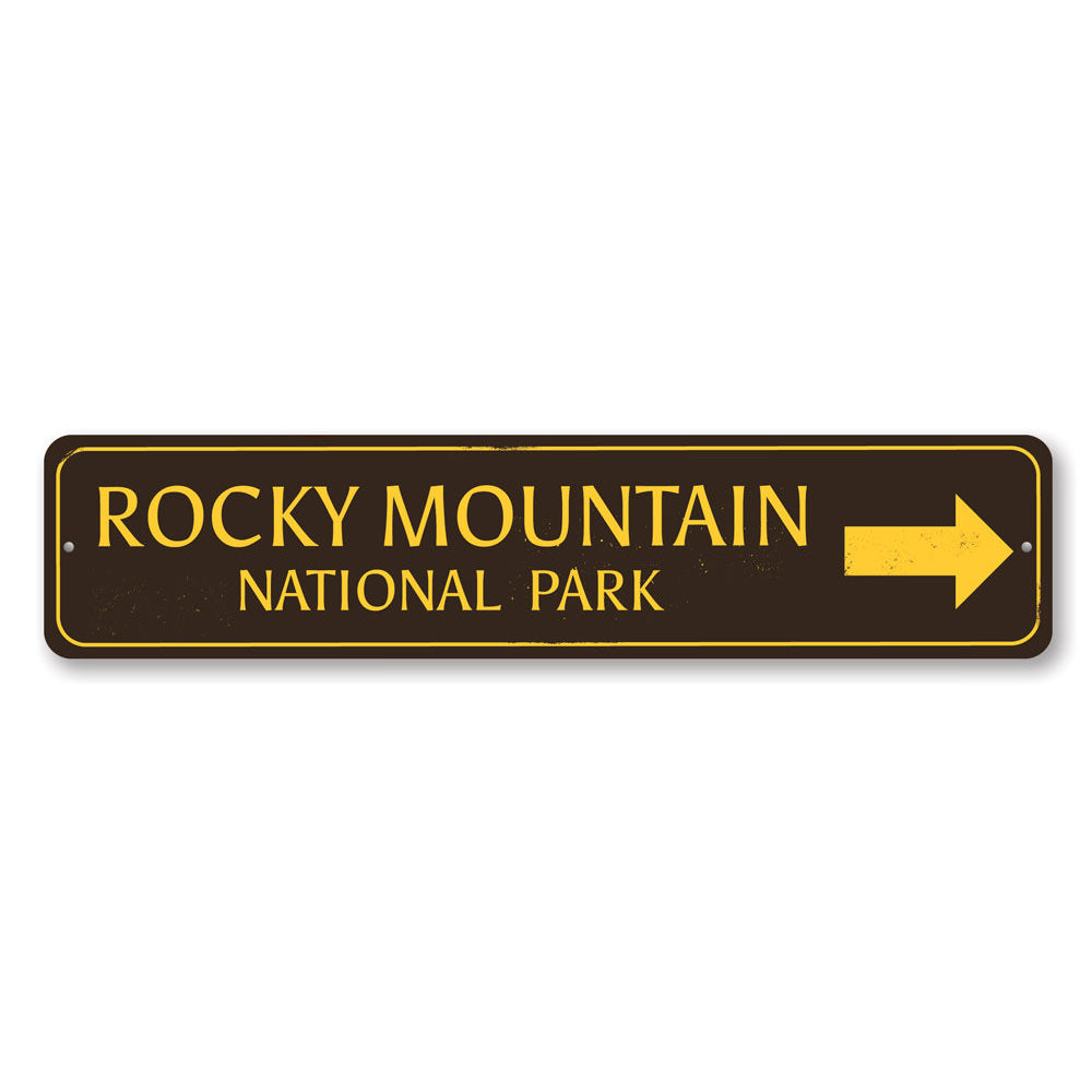 National Park Directional Arrow Sign Aluminum Sign