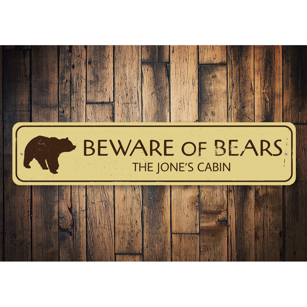 Beware of Bears Sign Aluminum Sign