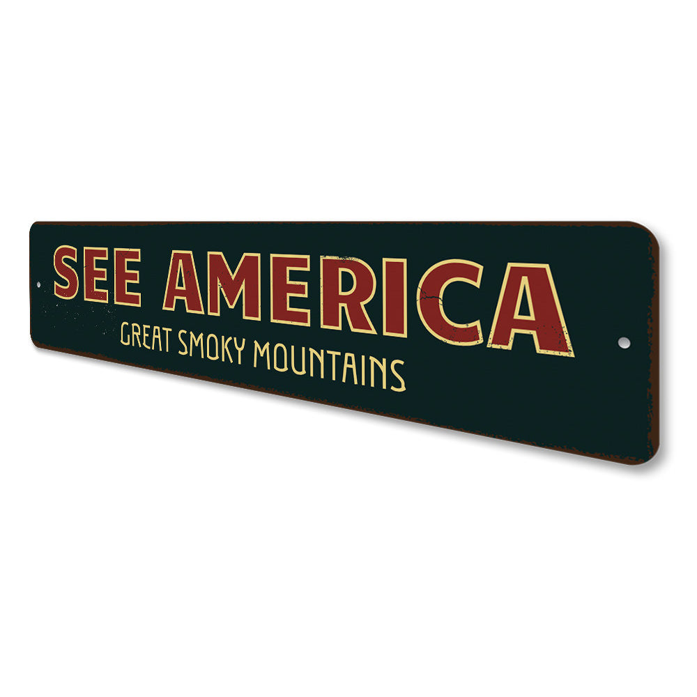 See Amerca Sign Aluminum Sign