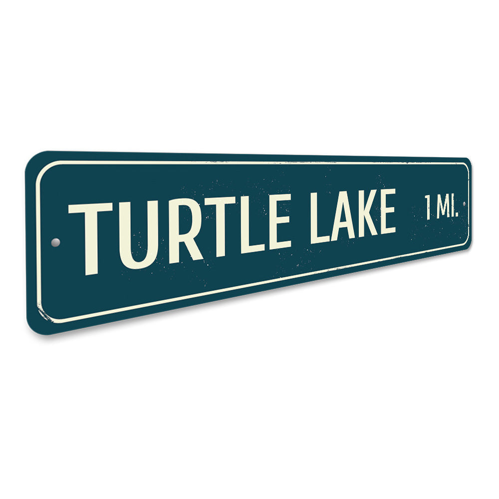 Lake Distance Sign Aluminum Sign
