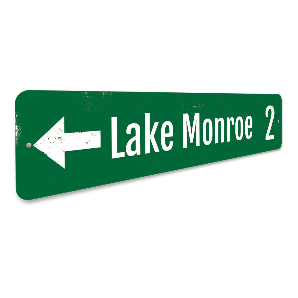 Lake Directional Mileage Sign Aluminum Sign