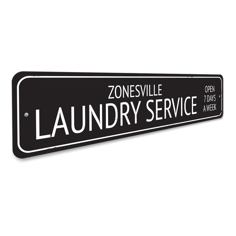 Laundry Service Sign Aluminum Sign