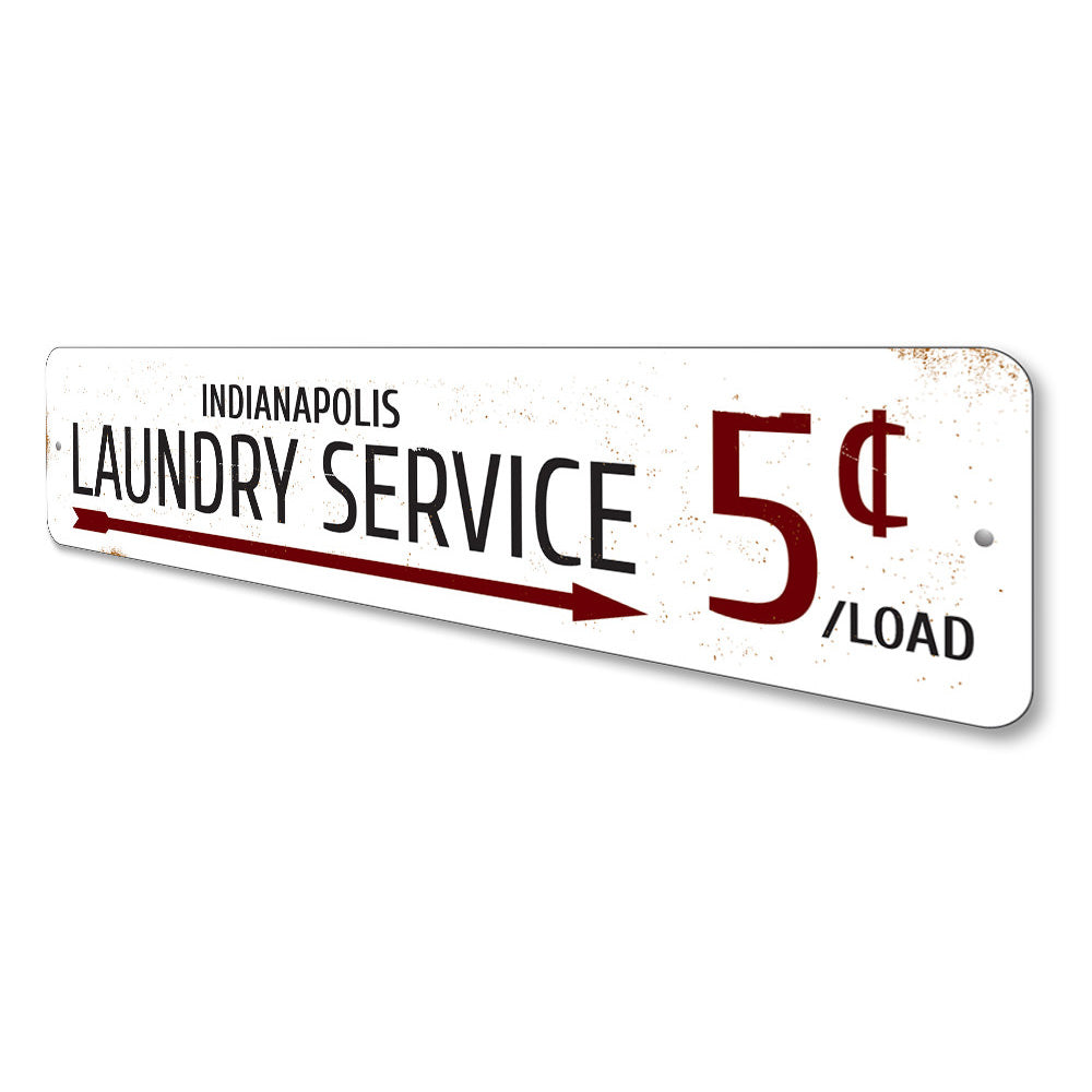 Laundry Service 5 Cents Sign Aluminum Sign