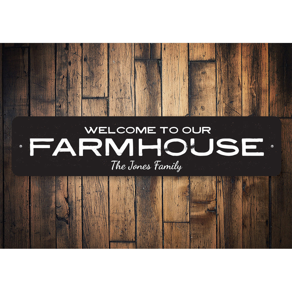 Farmhouse Welcome Sign Aluminum Sign