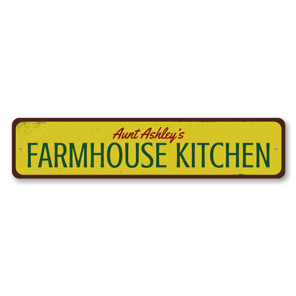 Farmhouse Kitchen Name Sign Aluminum Sign