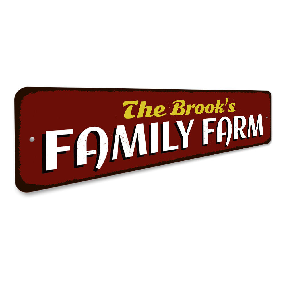 Family Farm Sign Aluminum Sign