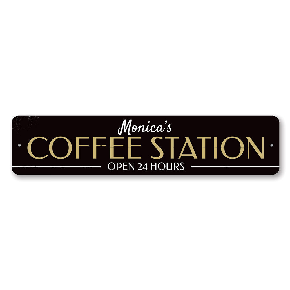 Coffee Station Sign